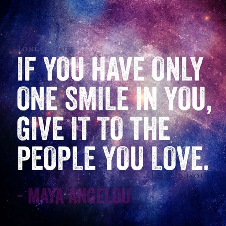 If you have only one smile in you