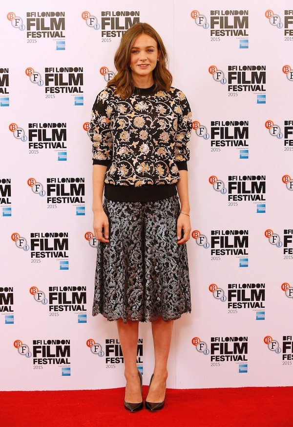 """LONDON, ENGLAND - OCTOBER 07: Actress Carey Mulligan attends the """"Suffragette"""" photocall during the BFI London Film Festival at The Lanesborough Hotel on October 7, 2015 in London, England. (Photo by John Phillips/Getty Images for BFI)"""