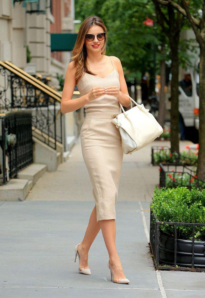 beige slip dresses summer fashion trend