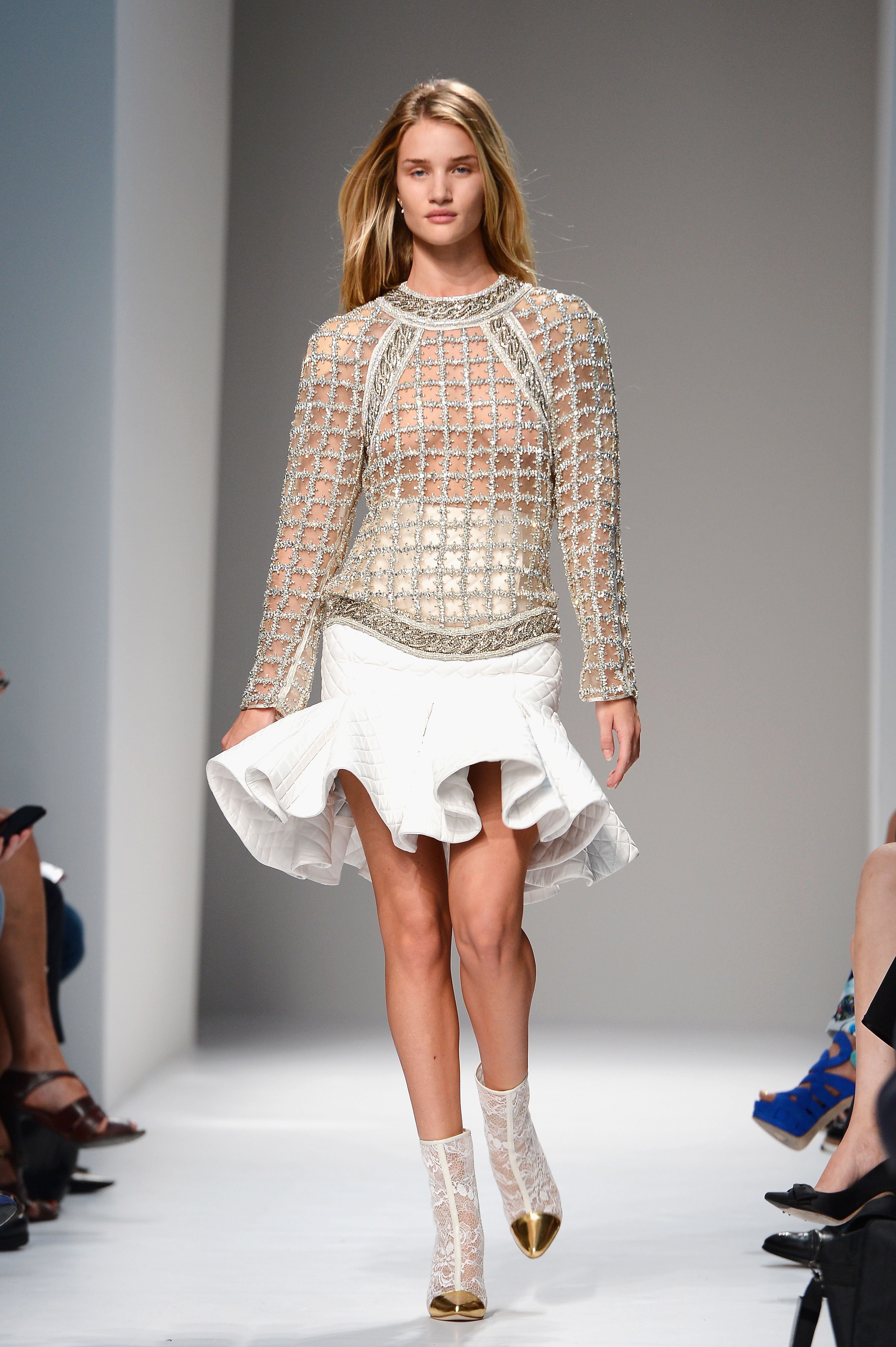 Balmain: Runway - Paris Fashion Week Womenswear Spring/Summer 2014