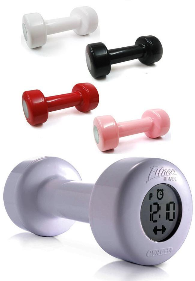 Shape Up Dumbbell Alarm Clock