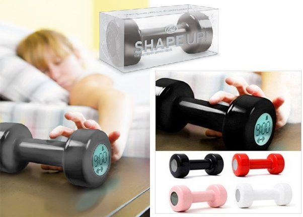 dumbbell alarm clock