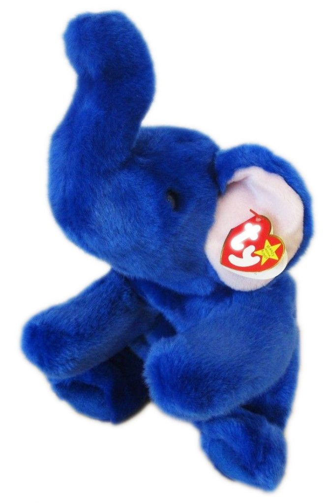 Royal Blue Peanut Beanie Baby1