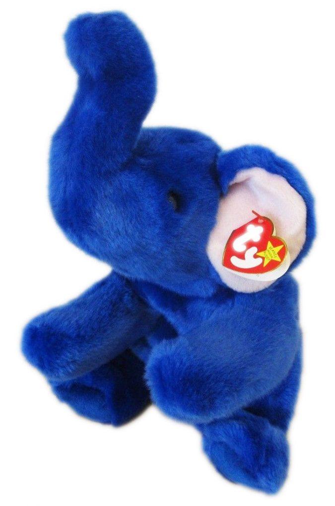 Royal Blue Peanut Beanie Baby1