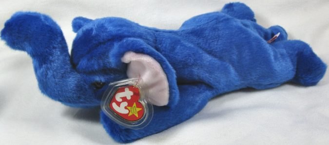 Royal Blue Peanut Beanie Baby2