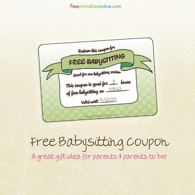 Vouchers for Babysitting2