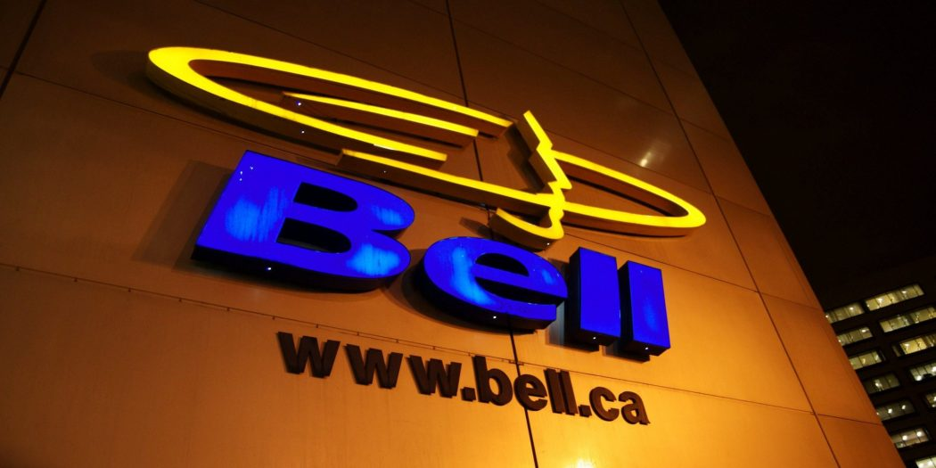 Nightime shot of Bell Corporate Logo,Montreal, Quebec Mario Beauregard/CPI/The Canadian Press