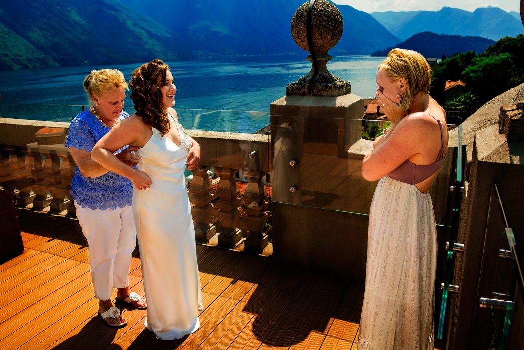 Maggie and Dorian's wedding at Villa del Balbianello on Lake Como in Lenno, Italy.