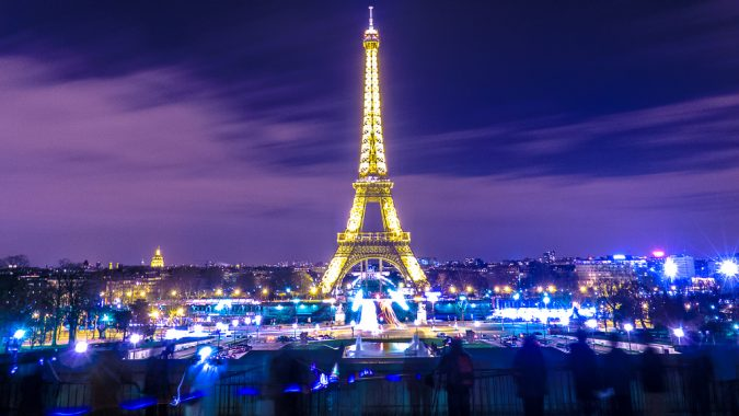 Down The Seine River Or An Evening Visit To Iconic Eiffel Tower Providing A Breathtaking View Of City Lights At Night Perfect Opportunity