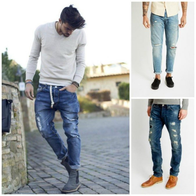 Distressed Denim 2017 men's fashion