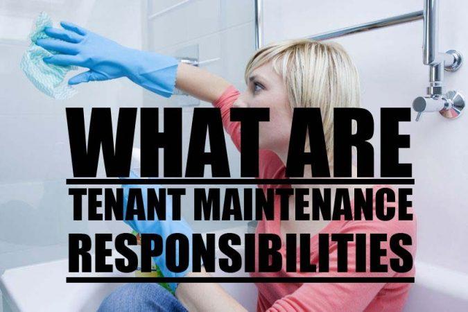 Tenant Maintenance and Responsibilities