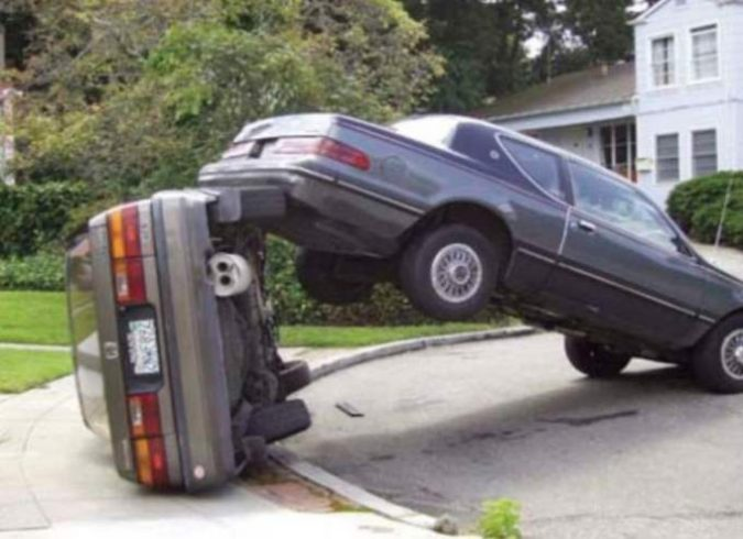 Backing In To Parked Car