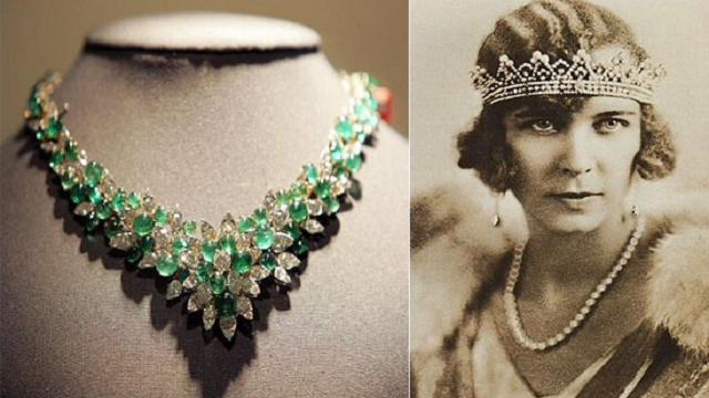Queen Marie Jose's Emerald and Diamond Necklace