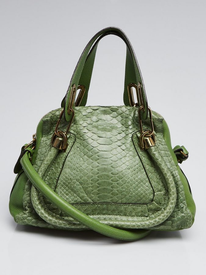 green stylish bag from French Handbag Designers popular organization
