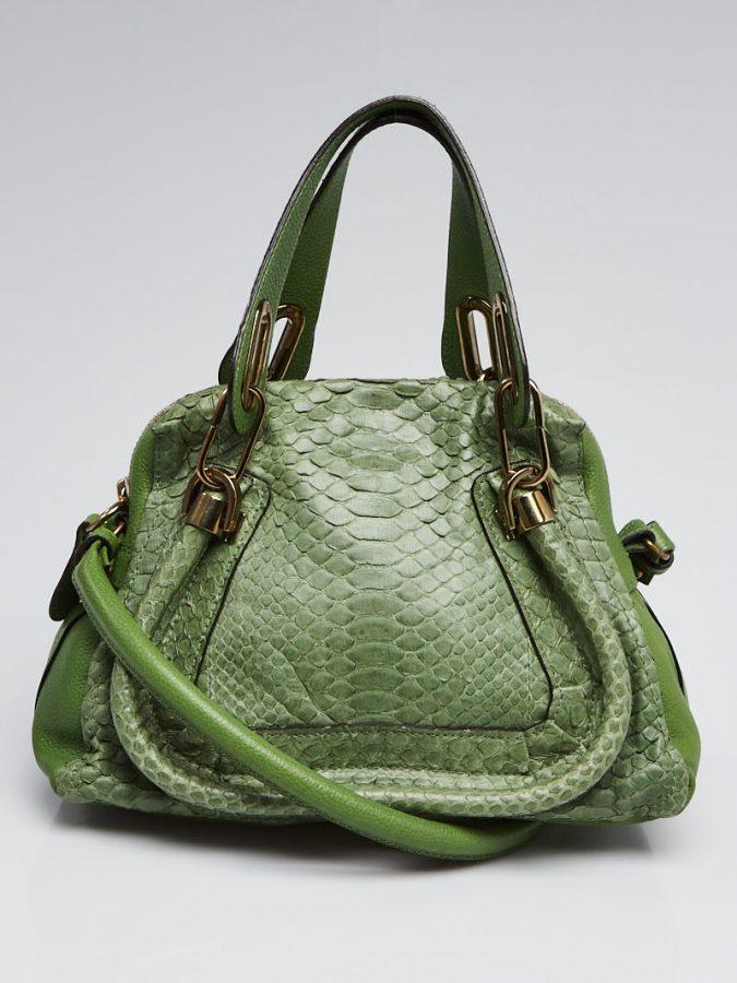 green stylish bag from French Handbag Designers popular organization