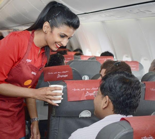The flight crew is nice in SpiceJet flight
