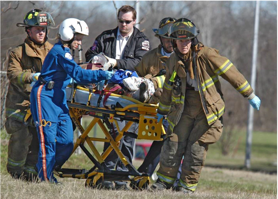 firefighters training for EMS care