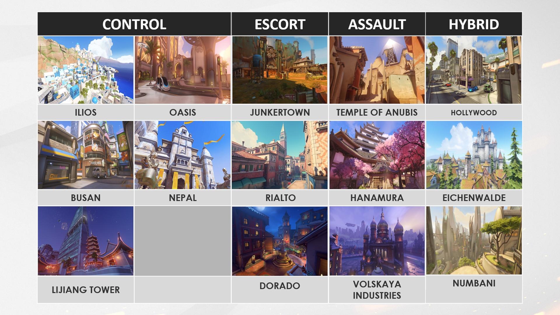 Overwatch maps