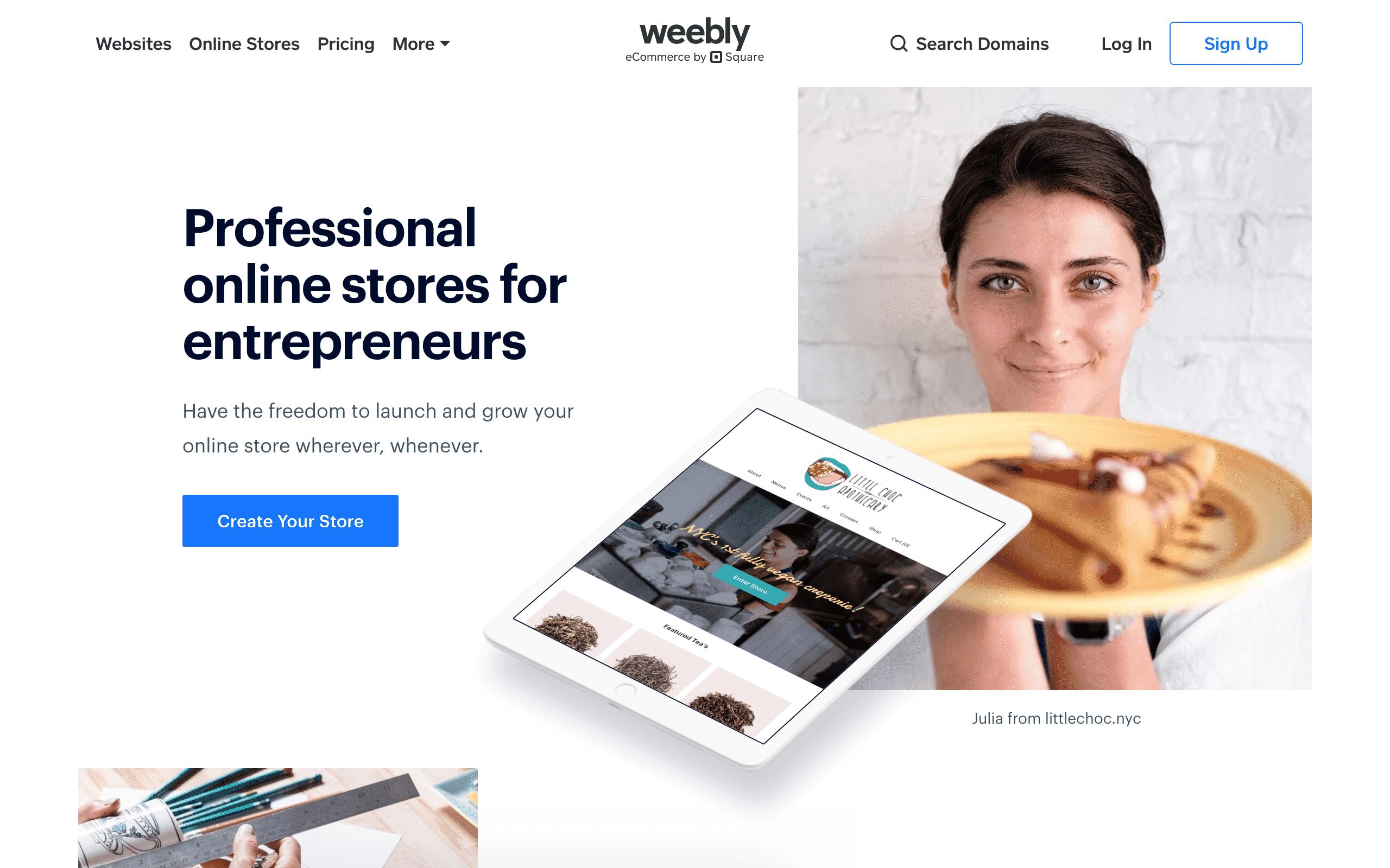 Weebly ecommerce platform