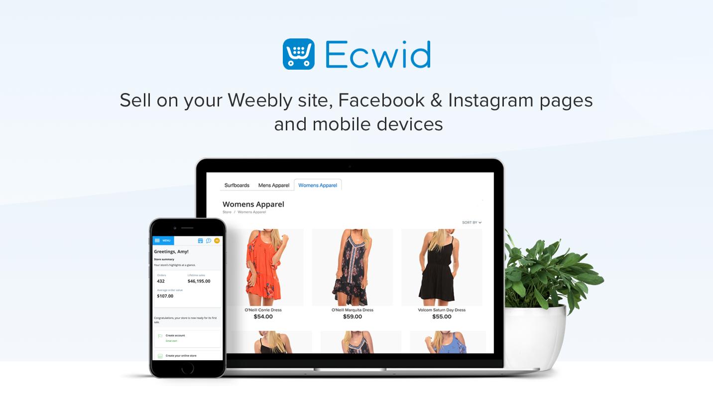 ecwid ecommerce patform