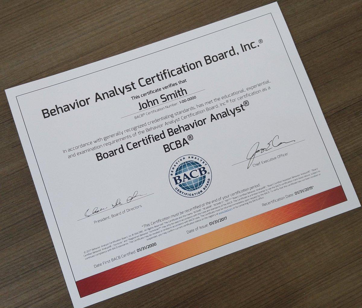 BCBA certification