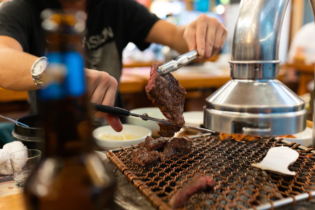 The-famous-Korean-Charcoal-BBQ Traveling to South Korea for The First Time