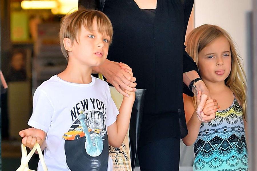 Vivienne Jolie Pitt and Knox Jolie Pitt.