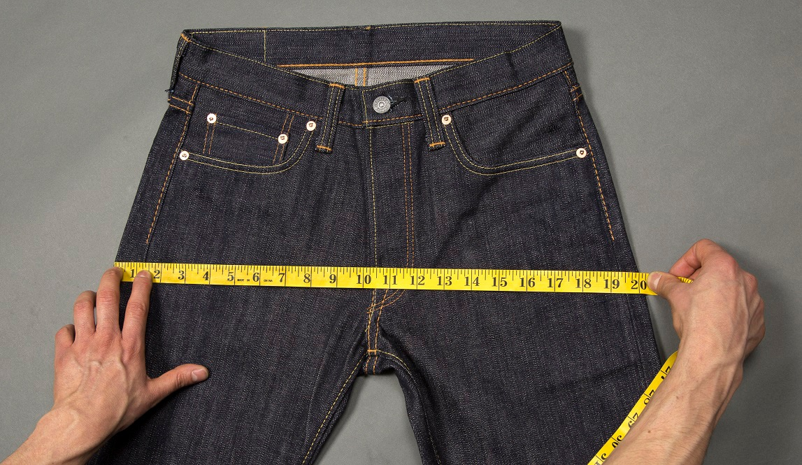 measuring the jeans