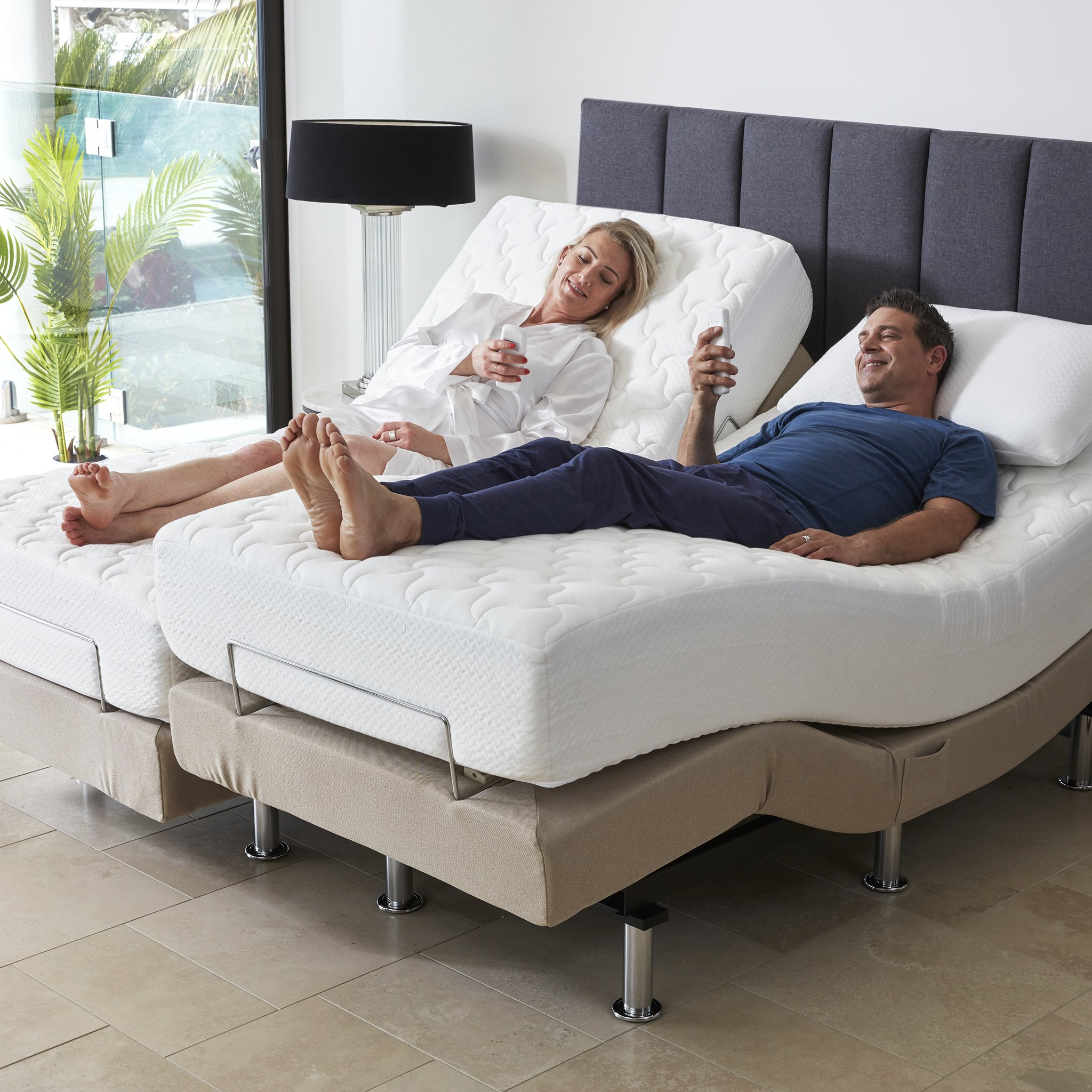 Adjustable mattresses with remote controls